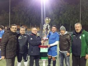 Assessore F. Porcaro premia vincitori Torneo Over 35 Mariglianella 13.3.2013