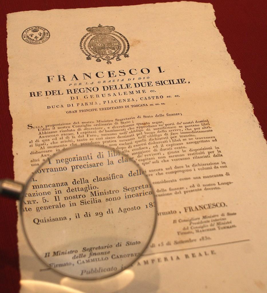 decreto quisisana 29 agosto 1830