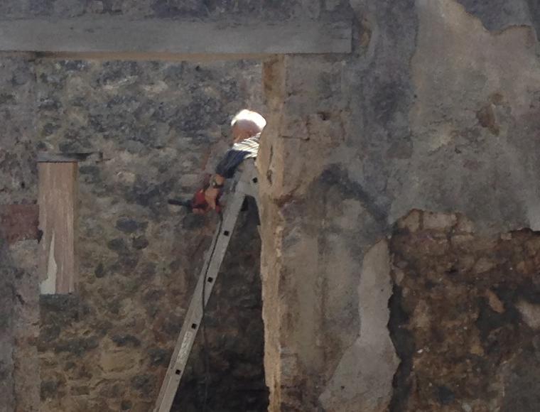 trapano agli scavi di pompei