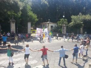flash mob per il bosco di portici