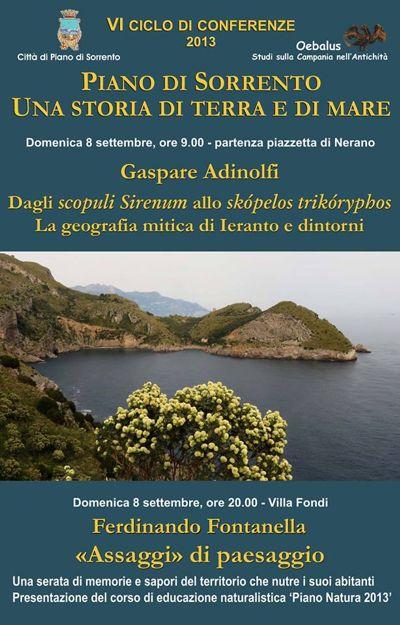 VI ciclo di conferenze e Piano Natura 2013