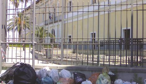 rifiuti palazzo baronale