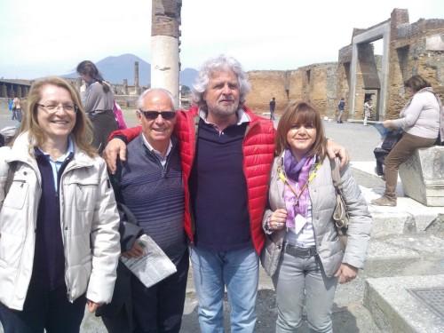 Grillo in visita agli Scavi di Pompei 2