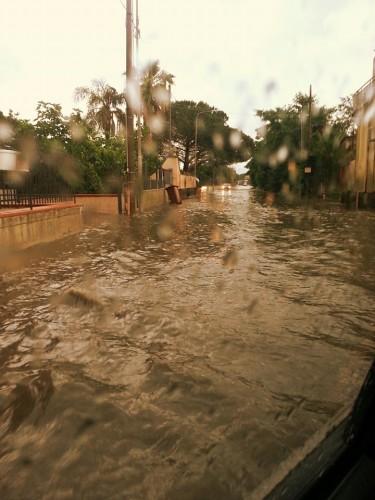 allagamenti per pioggia a Somma Vesuviana