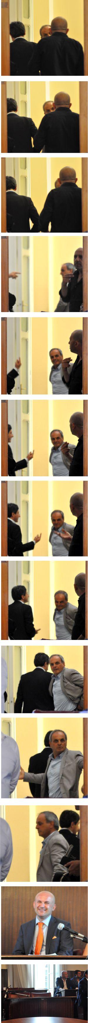 primo consiglio comunale Pompei la fuga dall'aula
