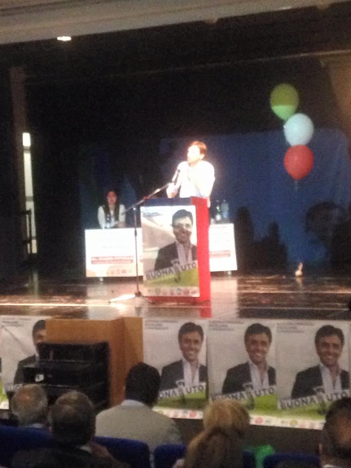 Ciro Buonajuto sul palco del MAV