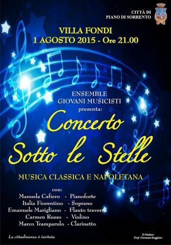 Concerto sotto le stelle 1 agosto Villa Fondi - Piano di Sorrento