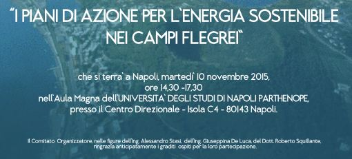 Napoli piani di azione per l energia sostenibile nei for Nei piani domestici di terra