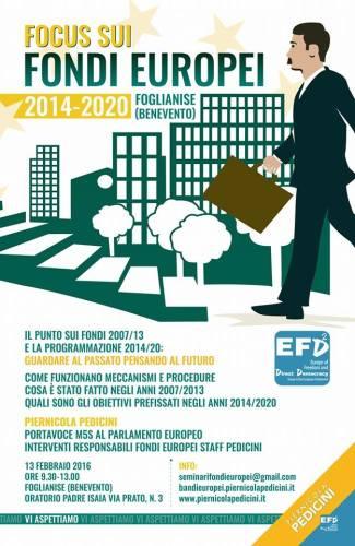 Locandina Focus fondi Ue