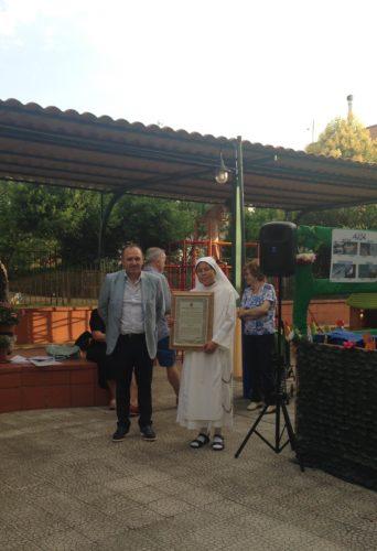 Sindaco Di Maiolo e Suor Ursula Tejada 18.6.2016