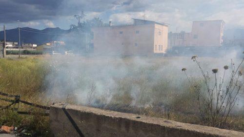 Incendio a Marra Zaffaranelli - Scafati