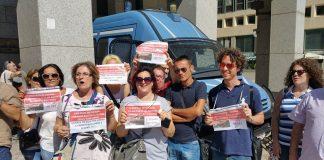 Manifestazione Mauro Scarlato al Consiglio Regionale della Campania