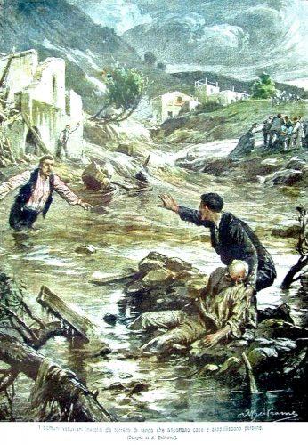 alluvione di fango dopo l'eruzione del 1906