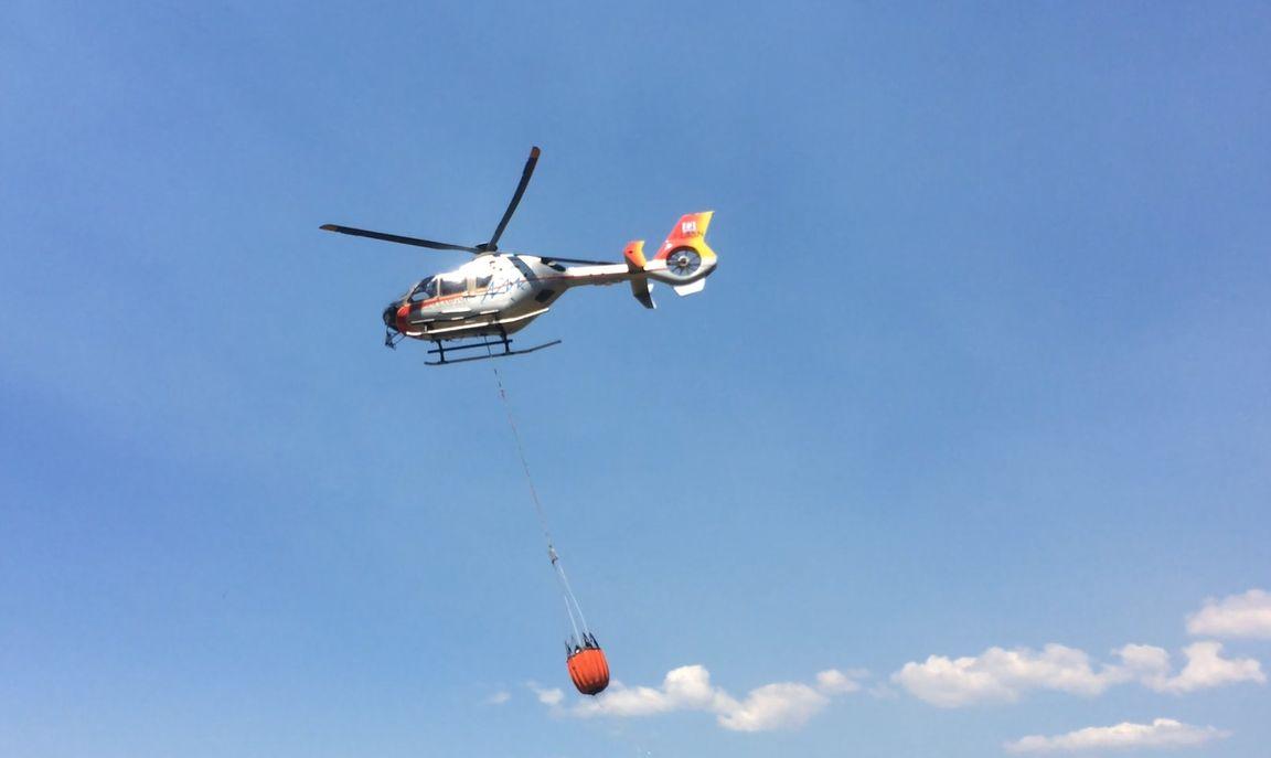 Elicottero Quarto : Ancora un incendio a corbara volontari ed elicottero a lavoro