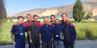 Felice Porcaro con maestranze Leonardo - Nola 4.10.2017