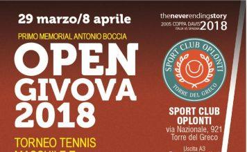 Torre del Greco, Torneo Open Givova: il grande tennis torna allo Sport Club Oplonti tennis