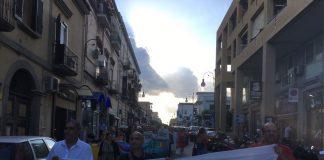 manifestazione contro le cisterne torre annunziata