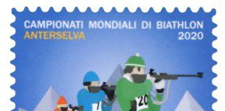 francobollo biathlon