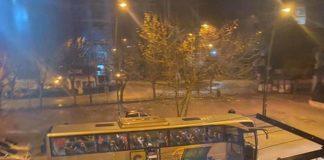 pompei bus nella notte coronavirus