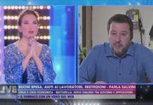Matteo Salvini a Non é la D'Urso