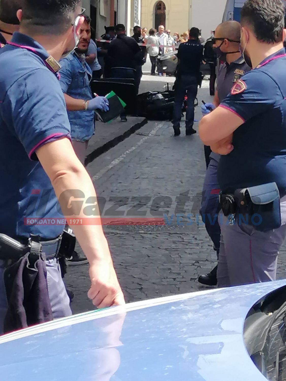 polizia omicidio in strada san giorgio