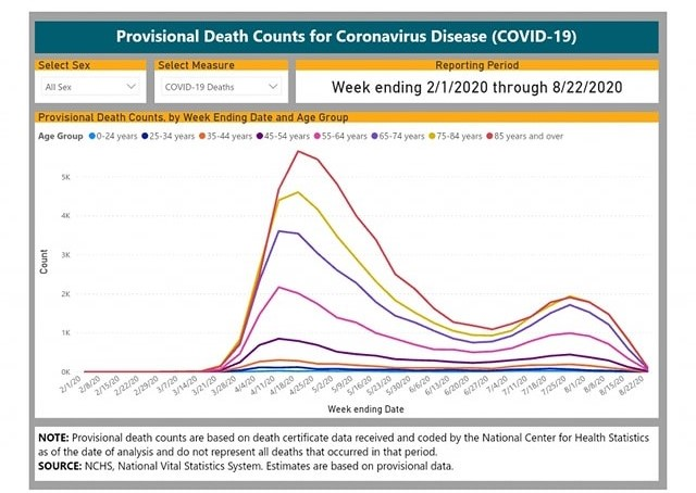 decessi coronavirus USA CDC