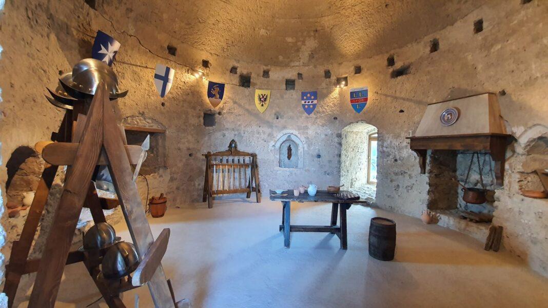 Ricostruzione sale museali Castello di Lettere --