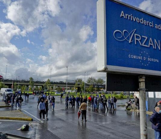 arzano lockdown protesta