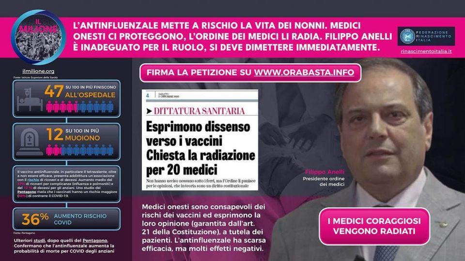 rinascimento italia - ordine dei medici
