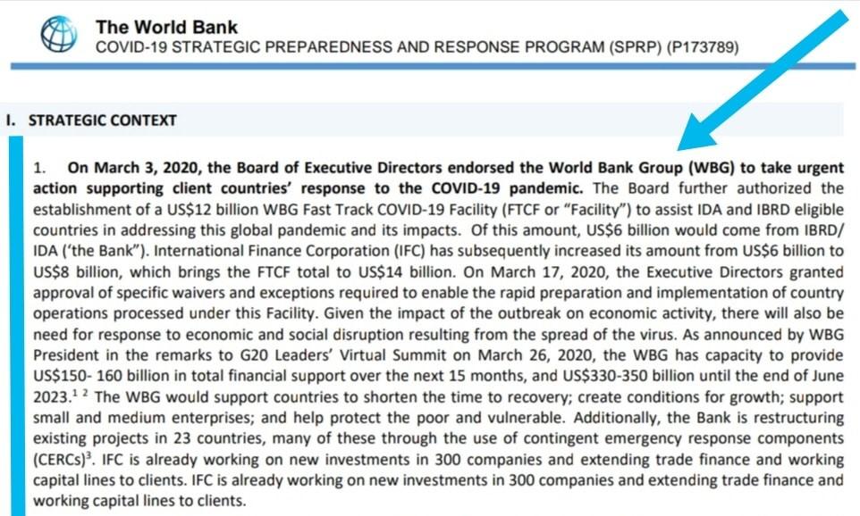world bank covid 19 response