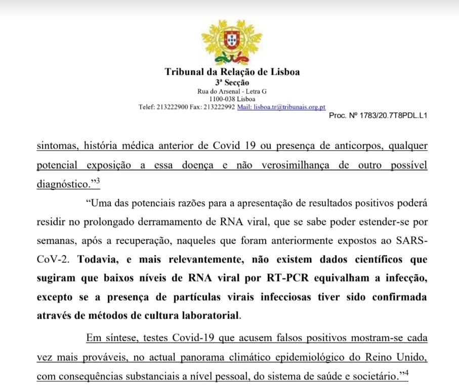 sentenza dell'11 novembre 2020una corte d'appello portoghese