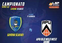 La Givova Scafati ospiterà domenica al PalaMangano l'Apu Old Wild West Udine