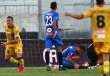 Prima sconfitta in campionato. Il Catania vince per 3-2